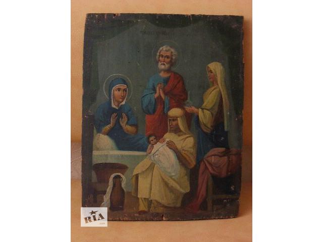 купить бу Продам антикварную икону Рождество в Киеве