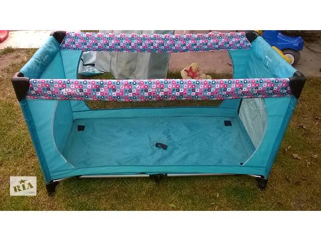 продам Продам б/у детский манеж-кровать Hauck+детский велосипед в подарок бу в Киеве