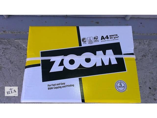 купить бу Продам бумагу Zoom А4 80 г/м2 офисная 500 листов. в Киеве