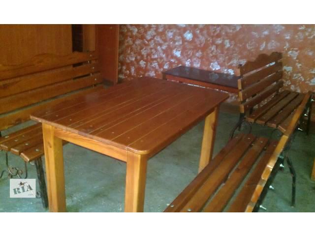 бу Продам деревянные столы и лавки для кафе б/у в Казатине (Винницкой обл.)