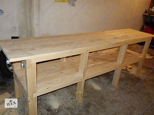 купить бу Продам деревянный стол-верстак, рабочий стол для гаража или мастерской в Киеве