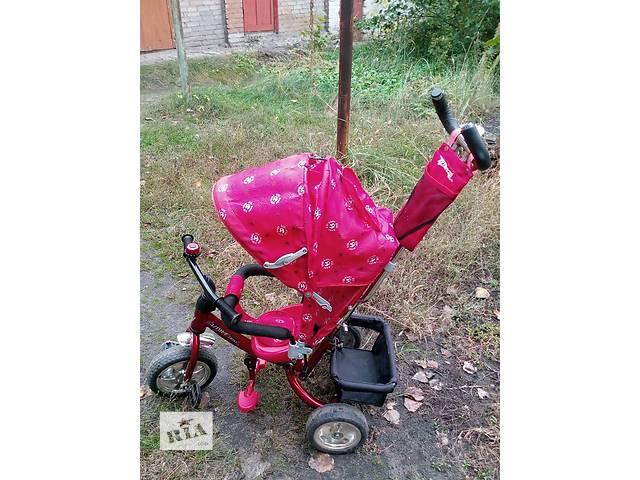 Продам детский велосипед с ручкой- объявление о продаже  в Рубежном (Луганской обл.)