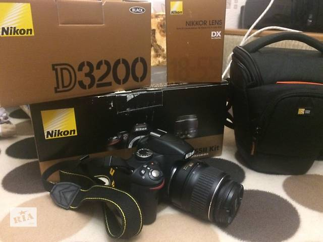 продам Продам фотоаппарат Nikon D3200 18-55 VR Kit (флешка, сумка, ) бу в Благовещенском (Ульяновке)