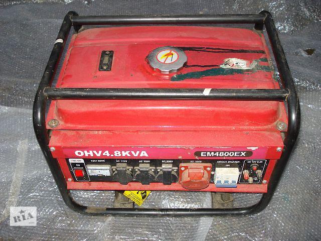 продам Продам Генератор Бензиновый б/у EM 4800 EX OHV 4.8 KVA с Германии 220 V - 380 V - 12 V бензиновий 3 бу в Бориславе