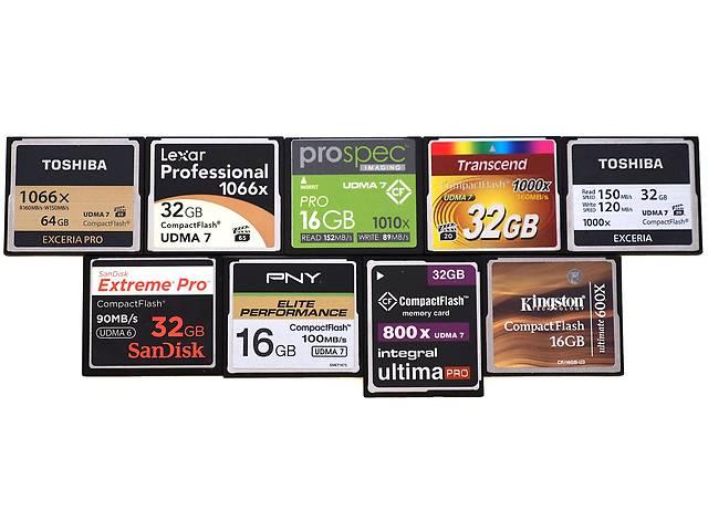 купить бу Продам карту памяти Компакт флеш 128 256 512 Mb - 128 Gb в Киеве