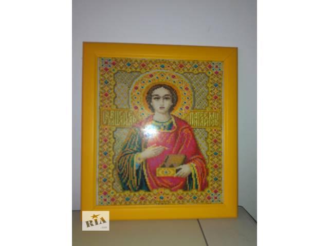 продам Продам картину вишиту хрестиком св.вм.Пантелеймон Целитель бу в Киеве