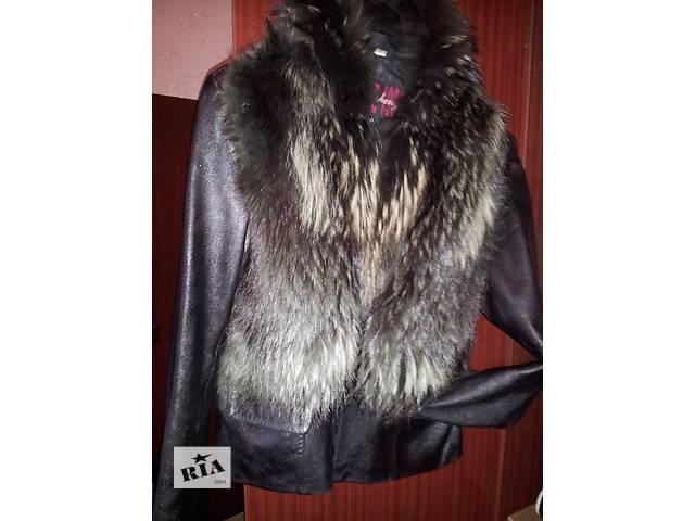 продам кожаную куртку с мехом- объявление о продаже  в Харькове