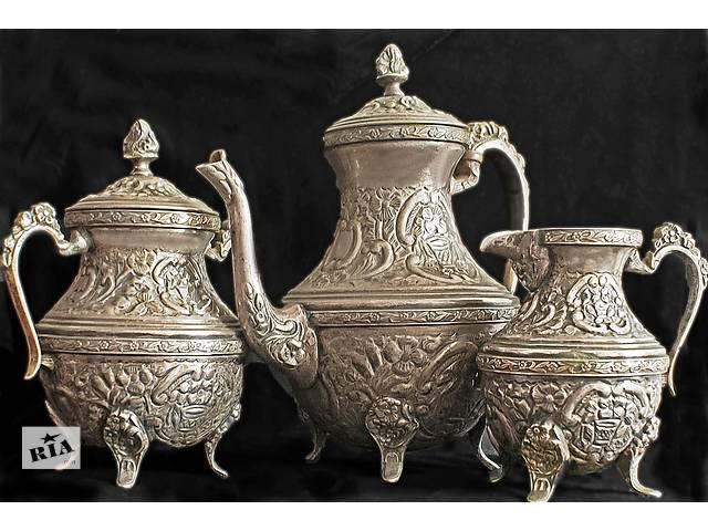 Продам мельхиоровый кофейный набор, пр-во Египет.- объявление о продаже  в Одессе