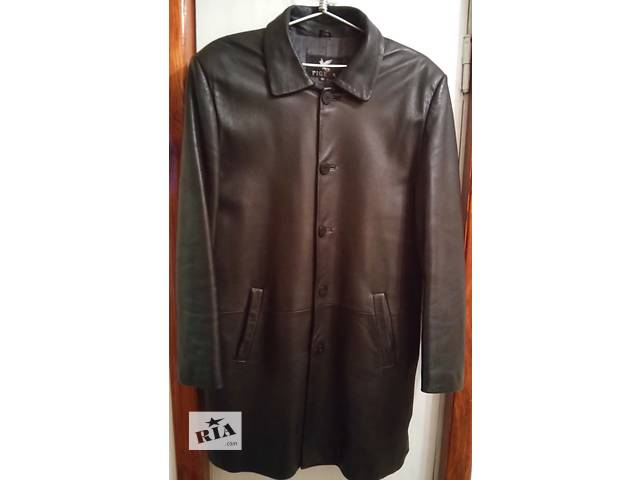 купить бу Продам мужской кожаный плащ Pigeon 52 размера из мягкой кожи весна-лето-осень Турция в Яготине