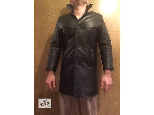 купить бу Продам мужской кожаный плащ в Виннице