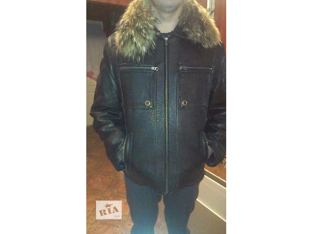 бу продам мужскую кожаную куртку ,дубленку в Виннице