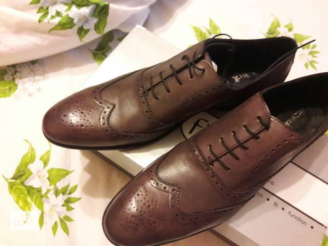 купить бу Продам мужские кожаные туфли (броги) 46 размер в Виннице