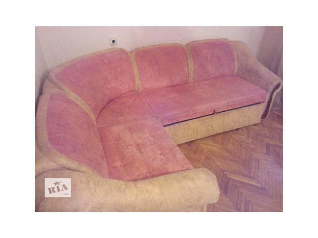 купить бу Продам мягкий  уголок трансформирующийся в двухспальную кровать в Виннице