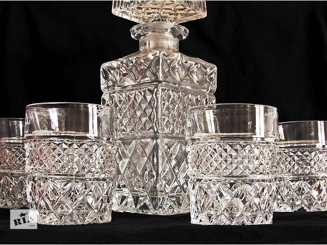 бу Продам набор для виски и коньяка из чешского хрусталя. в Одессе