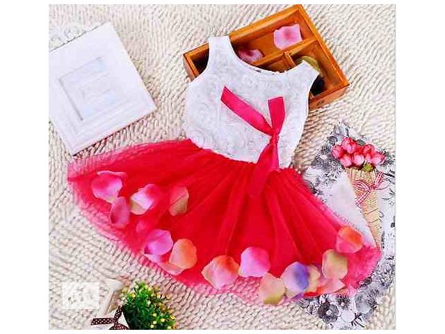 купить бу Красивое платье для девочки + повязка на голову в подарок в Киеве