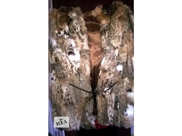 бу Продам новую женскую жилетку с капюшоном из натур. меха рыси, Греция в Мукачево