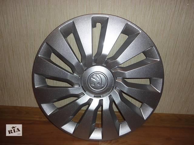 купить бу Продам Новый колпак на диск для легкового авто Skoda Octavia A7 5 R15 Шкода Октавиа А7 R16 Оригинал 5E0 601 147 C в Киеве