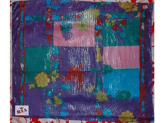 купить бу Легкий нежный большой платок-шарф приятной расцветки с люрексом, абсолютно новый! Производство Индия. Размер 108х90см в Харькове