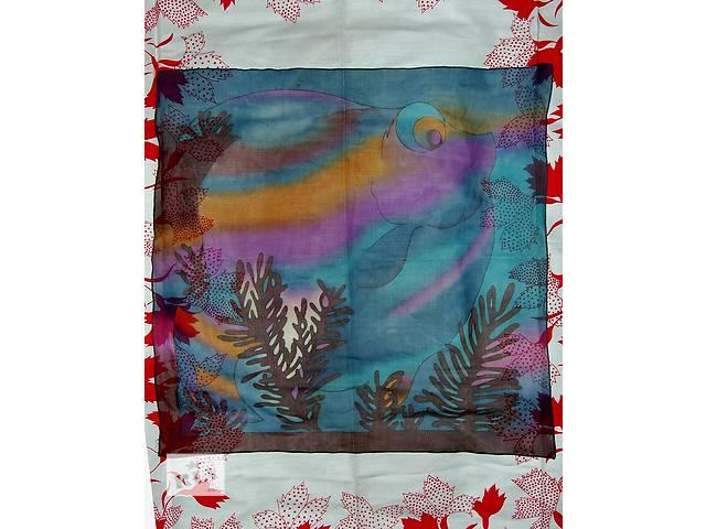 Продам новый платок  из настоящего крепдешина - объявление о продаже  в Харькове