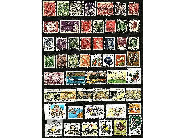 Продам оптом почтовые марки Австралии 1914-1992 гг. в количестве 52 шт.          - объявление о продаже  в Киеве