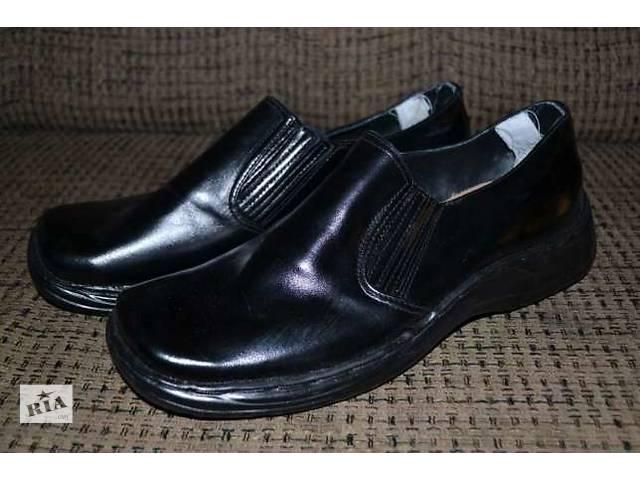 купить бу Продам ортопедические туфли мужские новые, черные ,кожаные в Северодонецке