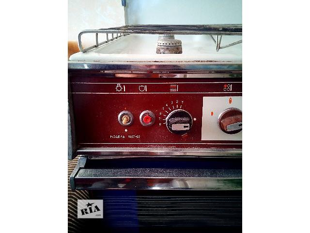 Газовая плита коричневая гефест 1457-02 4 конфорки и духовка.