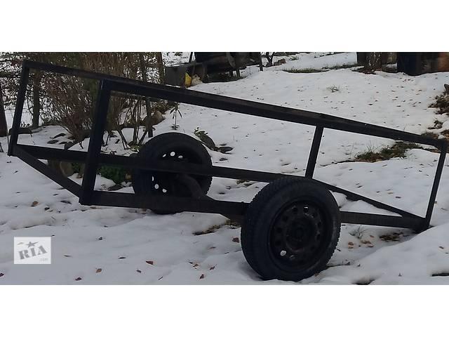 купить бу Срочно продам самодельный прицеп-каркас на колесах в Червонограде