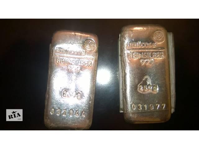продам Продам серебро 2 слитка по 250 грамм 999 проба бу в Одессе
