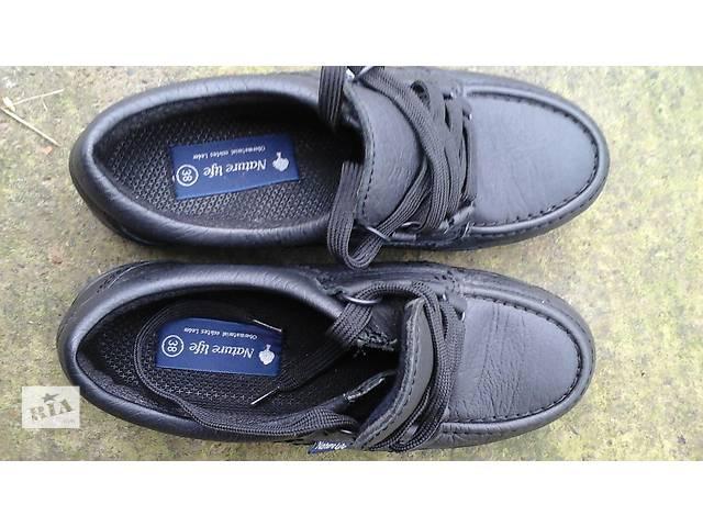 купить бу продам кожаная демисезонная обувь nature life в отличном состоянии в Коломые