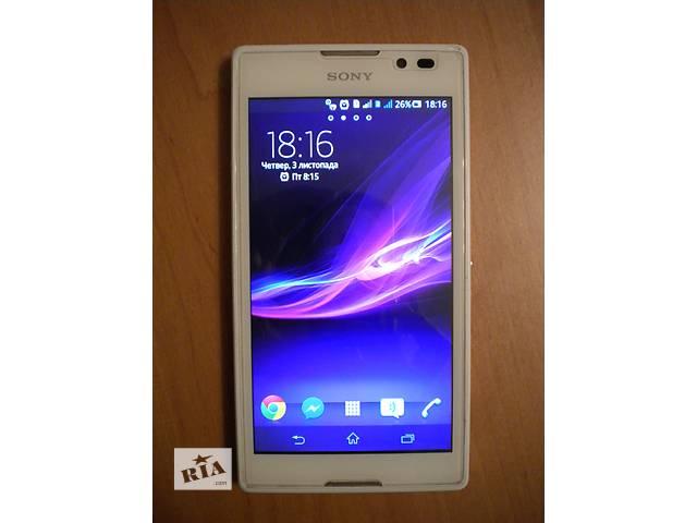 Продам смартфон sony xperia c2305 белый + чехлы + защитный экран + пленка- объявление о продаже  в Ивано-Франковске