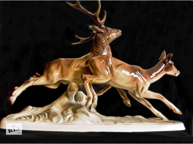 продам Продам статуэтку Бегущие олени (Австрия, 50х годов). бу в Одессе