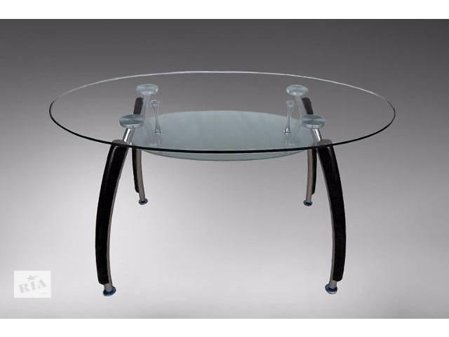 бу Продам стеклянный овальный обеденный стол в Днепре (Днепропетровск)