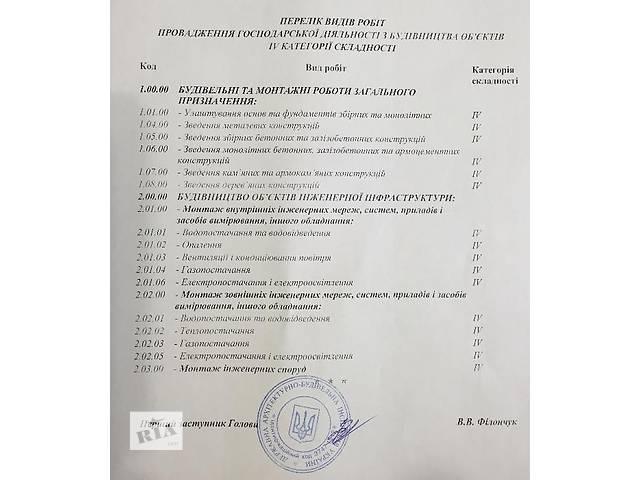 продам продам строительную фирму с лицензией бу  в Украине