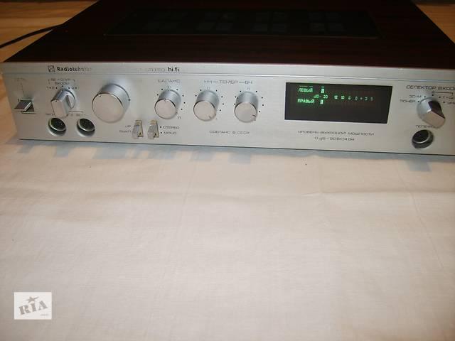 купить бу Продам усилитель Radiotehnika У101 hi-fi + колонки 10МАС-1М в Чернигове