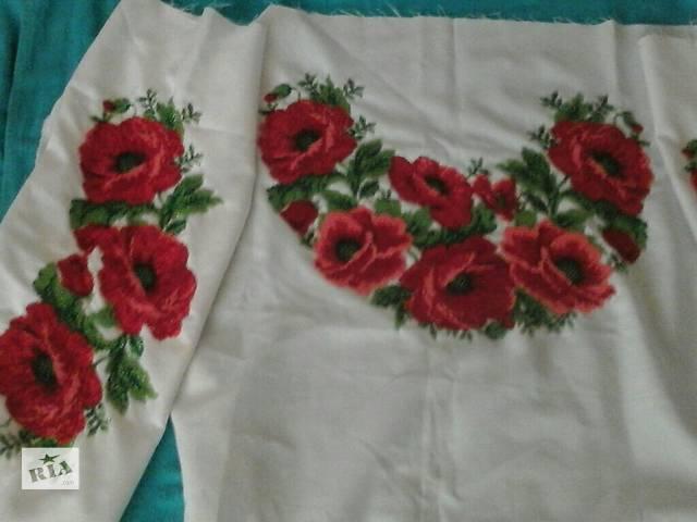 купить бу Продам вышитую бисером заготовку на женскую рубашку в Ровно