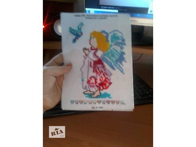 Продам вышивку крестиком Ангелочек вышивала дочка- объявление о продаже  в Днепре (Днепропетровске)