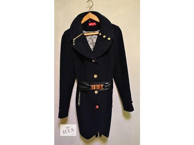 бу Продам женское синее пальто осень-весна с красивым воротником в Харькове