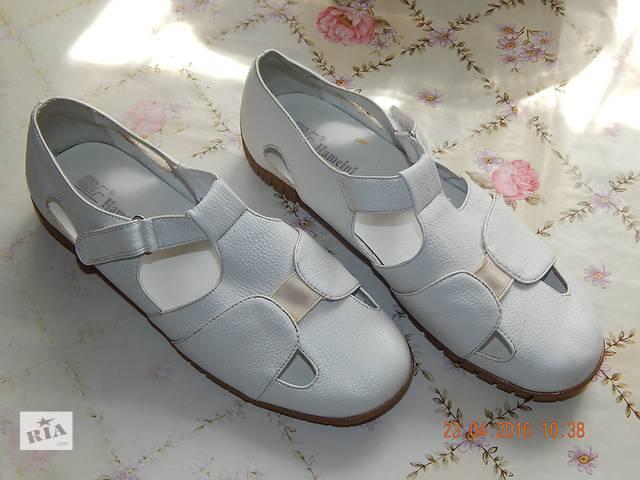 Продам женские белые босоножки- объявление о продаже  в Херсоне