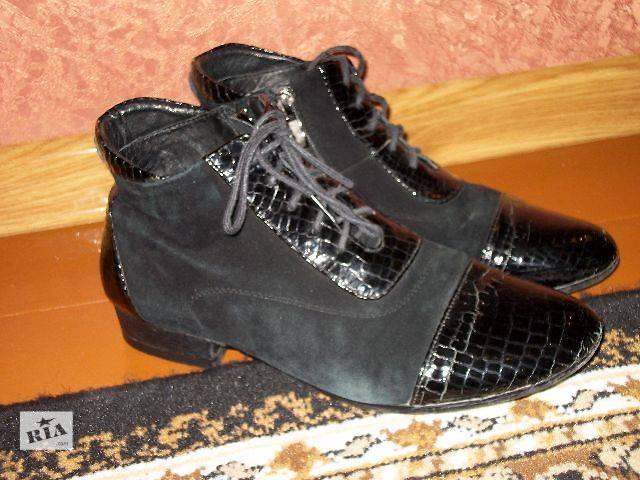 продам Продам женские ботинки замш + лак бу в Хмельницком