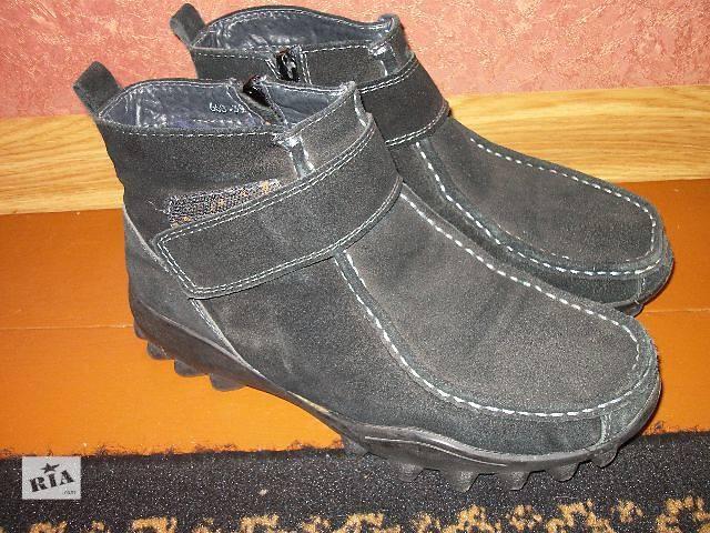продам женские замшевые ботинки на овчине- объявление о продаже  в Хмельницком