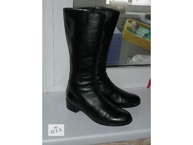купить бу Продам зимние кожаные сапоги, размер 38. в Белой Церкви