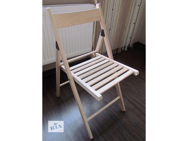 купить бу Продам деревянный раскладной стул нелакированный. Всегда в наличии. От производителя в Киеве