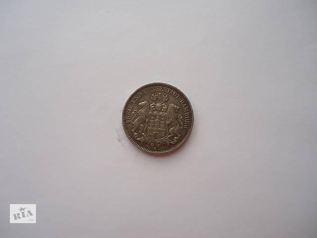 продам Продаю монету 3 марки, Гамбург, 1911 год. Серебро бу в Киеве