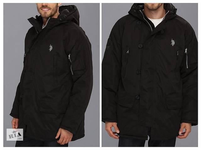 купить бу Продаю новую зимнюю мужскую куртку с капюшоном US POLO (L) из США в Днепре (Днепропетровске)