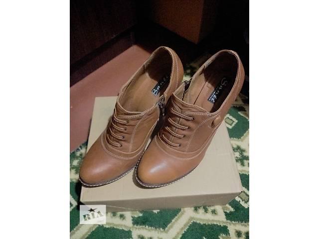 купить бу Продаются в очень хорошем состоянии кожаные осенние туфли в Киеве