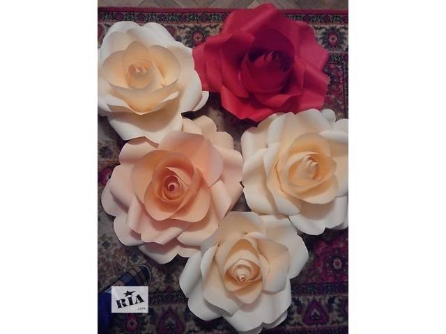 купить бу Продажа бумажных цветов! в Львове