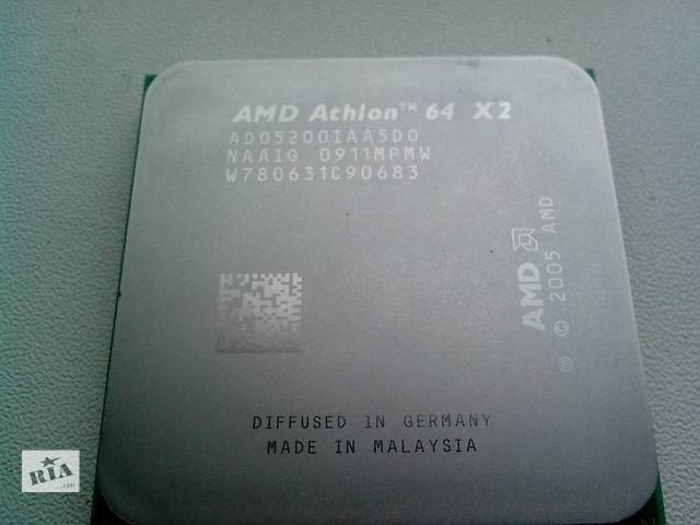 купить бу Процеорры AMD Athlon X2 5200 s.Am2 (2700 mhz) в Никополе (Днепропетровской обл.)