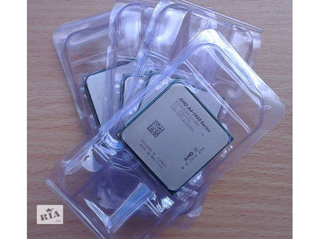 продам Процессор CPU sFM1 AMD A4 3300 3400, X4 631 641 651 Llano бу в Киеве