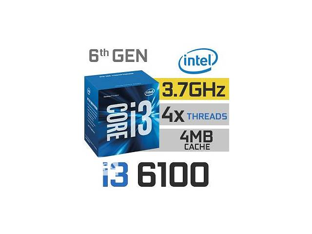купить бу Процессор INTEL CORE I3-6100 3.7GHZ 3MB S1151 BOX в Энергодаре