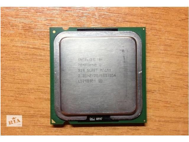 купить бу Процессор НА 2 ядра LGA775 Intel Pentium D 820 2 ядра по 2,8Ghz в Львове